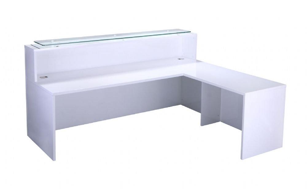 Return Section, Universal Unit, One Section, Left & Right Handed. 600mm Deep. Gloss White Finish